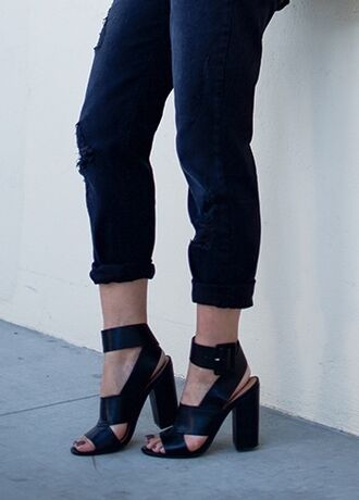 shoes neon blush shoemint shoe mint fashion blog block heels buckles ankle strap heels black heels strappy black heels strappy heels high heels cute high heels style blogger block heel sandals