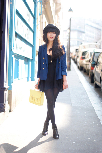 leeloo blue marin jacket