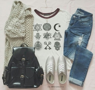 t-shirt harry potter shoes style sweater knit knitted sweater bag teenagers sneakers knitted cardigan cardigan jewels jeans