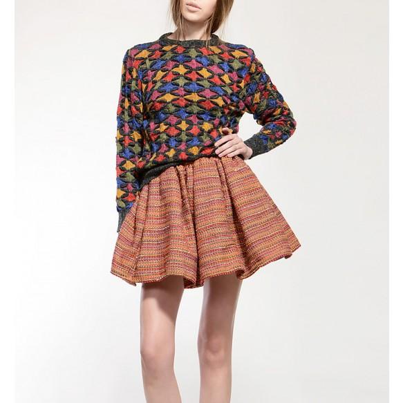 Twill Full Skirt at Style Moi