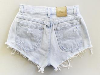shorts high waisted shorts jeans shorts high-wasted denim shorts denim vintage levis levis shorts white jeans