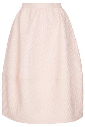 Bubble Jacquard Midi Skirt - Skirts  - Clothing  - Topshop