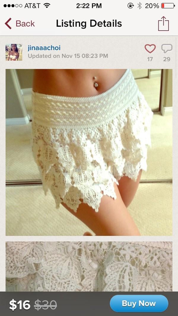 shorts white high waisted