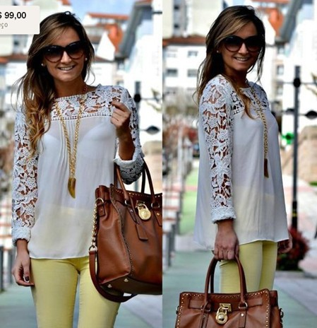 White Blue/pink/Yellow Women Lace Sleeve Chiffion Blouses Tops Emboriey Gorgeous Shirts  long Sleeve-in Blouses & Shirts from Apparel & Accessories on Aliexpress.com
