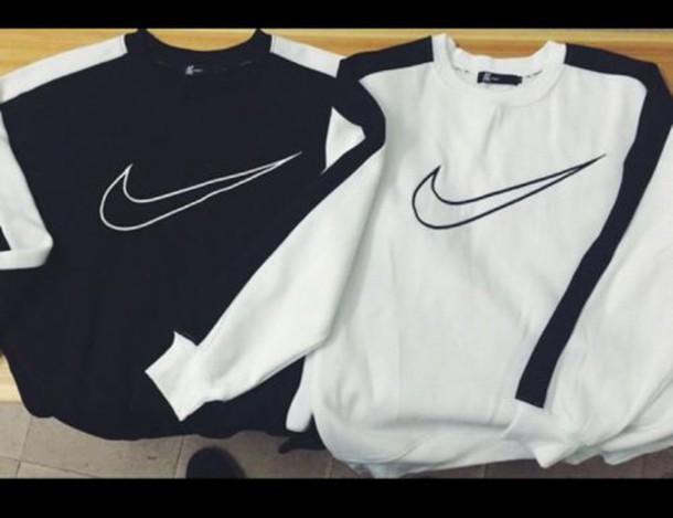 shirt crewneck black t-shirt black and white nike air nike sweater
