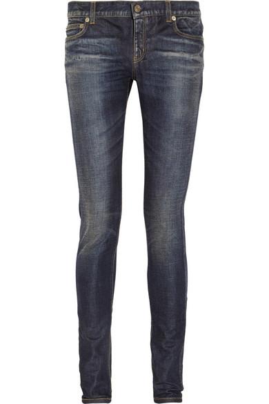 Saint Laurent|Low-rise skinny jeans|NET-A-PORTER.COM