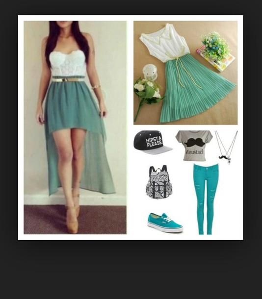 dress blue dress white dress cute