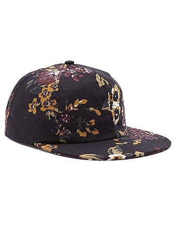 The Floral Printed Cap | American Apparel