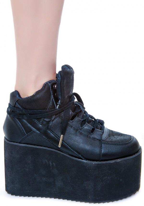Y.R.U. Qozmo Hi Platform Sneakers | Dolls Kill