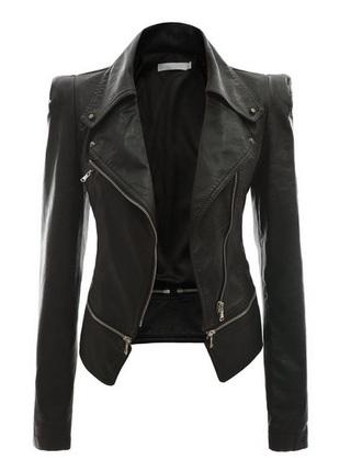jacket women faux rider motorcycle zip