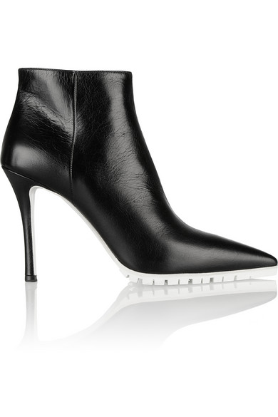 Miu Miu | Textured-leather ankle boots | NET-A-PORTER.COM