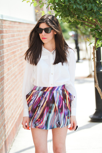 erika fashion chalet print purple skirt pink skirt yellow skirt skirt
