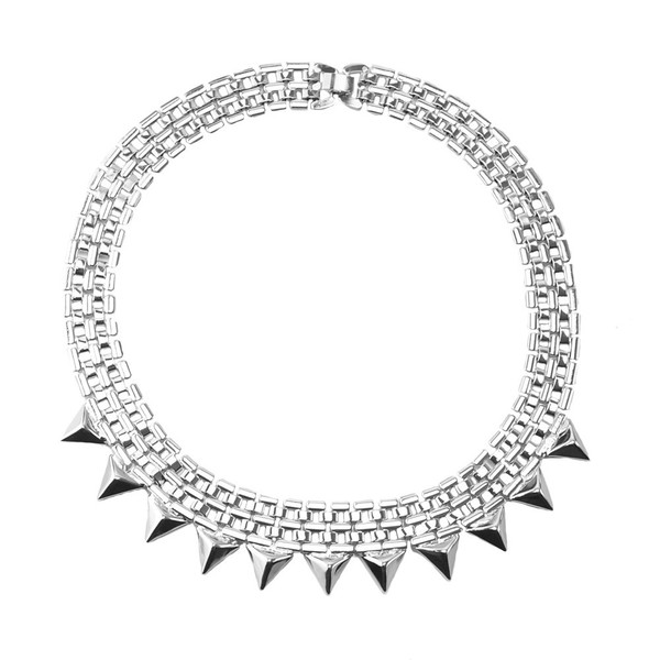 jewels gizeh spike silver necklace accessories necklace