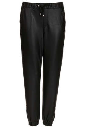 Leather Look Joggers - Trousers  - Clothing  - Topshop