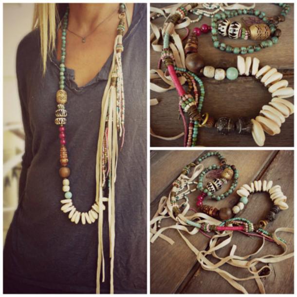 jewels necklace boho boho chic handmade jewelry high fashiion valentines day gift idea valentine's day