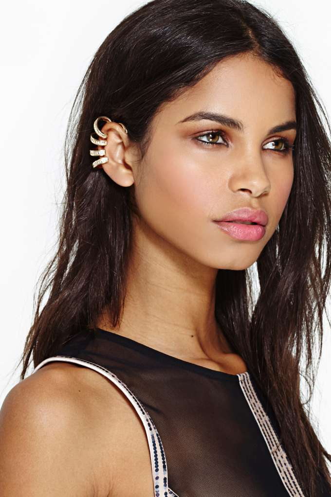 Shoot Hoops Ear Cuff in  Accessories at Nasty Gal