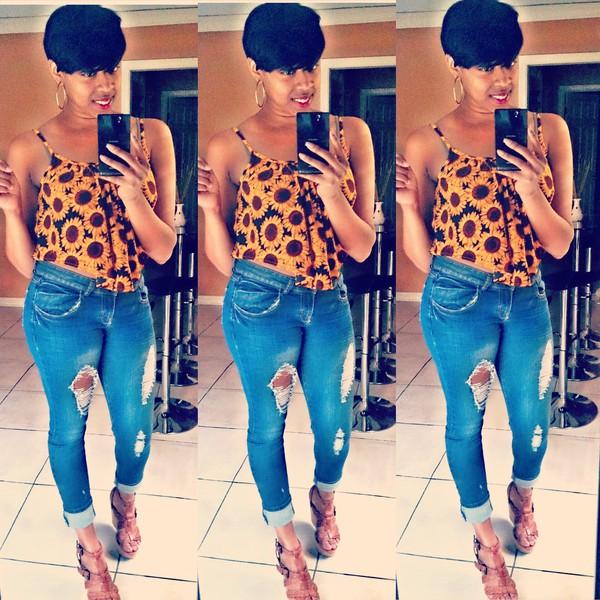 blouse sunflower shirt rue 21 jeans