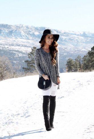 sunshine&stilettos blogger shoes hat sweater bag make-up