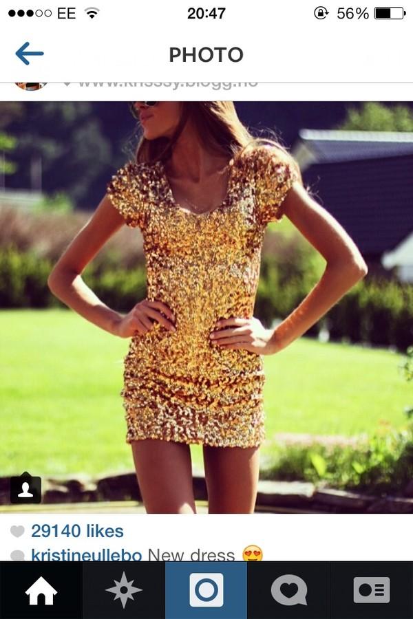 dress sparkly dress gold sequin dress