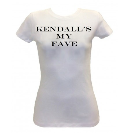 White Kendall's My FAVE Ladies Short Sleeve Tee - Apparel