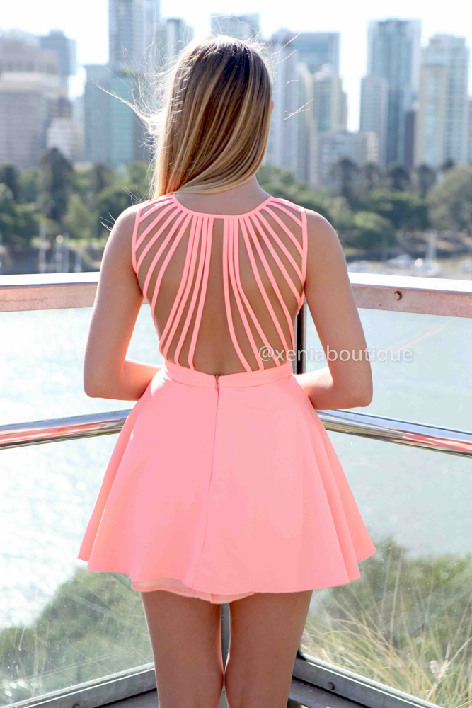 IN THE MOMENT DRESS , DRESSES, TOPS, BOTTOMS, JACKETS & JUMPERS, ACCESSORIES, 50% OFF SALE, PRE ORDER, NEW ARRIVALS, PLAYSUIT, COLOUR, GIFT VOUCHER,,Pink,CUT OUT,BACKLESS,SLEEVELESS,MINI Australia, Queensland, Brisbane