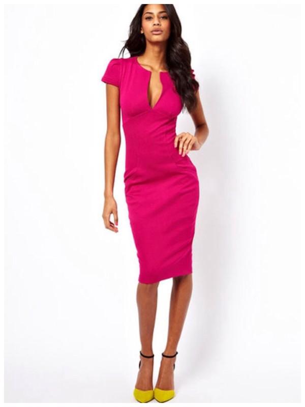 dress boob cut dress pink dress spring outfits short sleeve dress