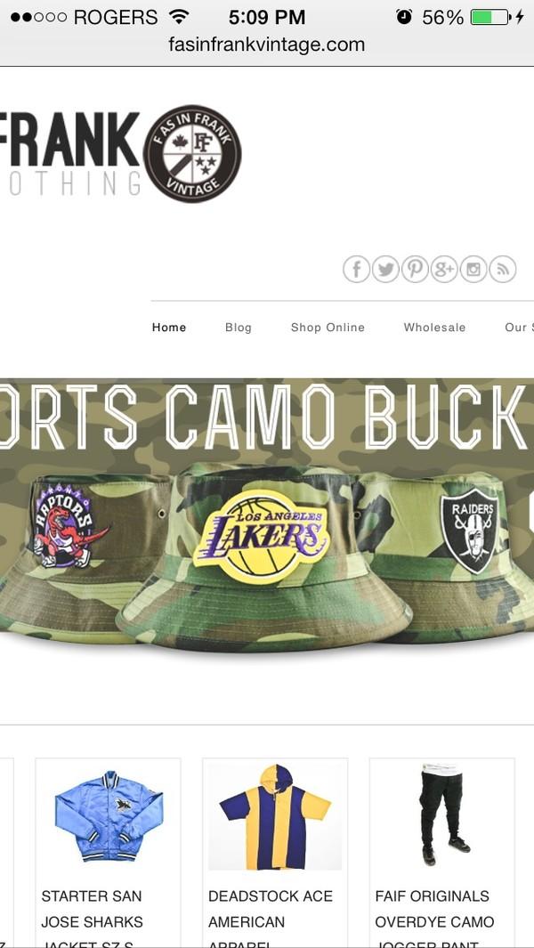 hat camouflage bucket hat nba