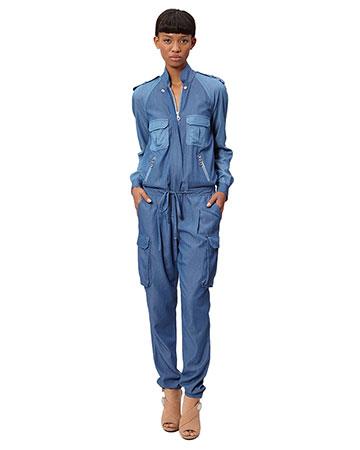 L.A.M.B. Cross Dye Tencel Jumpsuit
