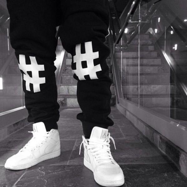 pants black joggers harem pants shoes