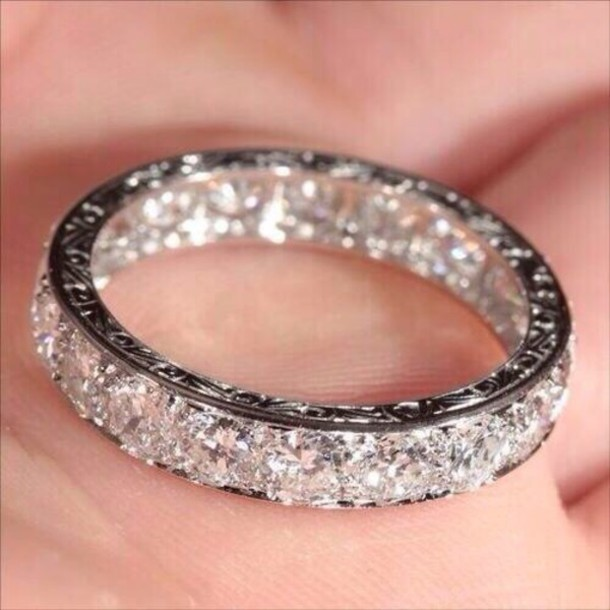 jewels diamonds silver ring