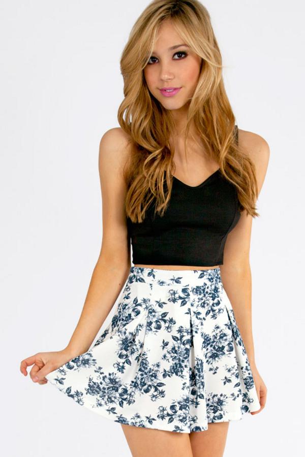 Floral It's Worth Skater Skirt - TOBI