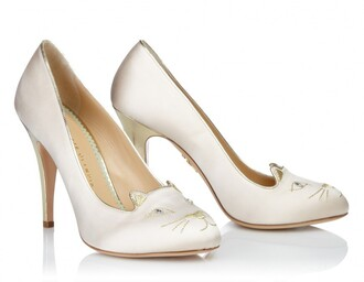 shoes cats kitty heels cat shoes charlotte olympia heels