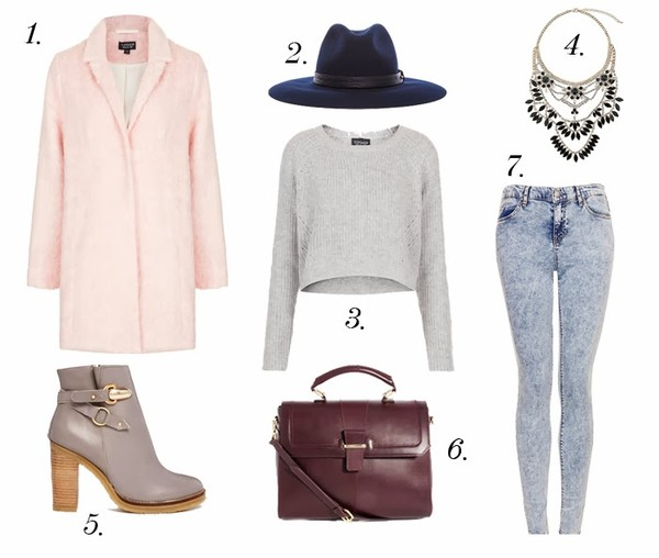 the fashion cuisine coat hat sweater jewels shoes bag jeans