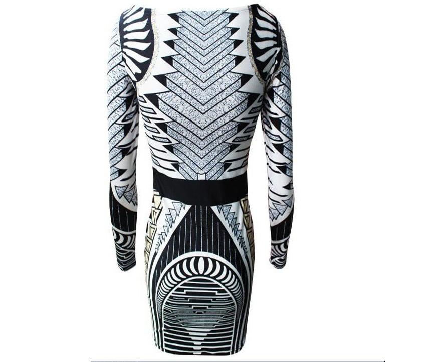 Aliexpress.com : Buy Free Shipping Free shopping Fashion a geometric pattern dress  party dress women dress long sleeve dress J302 from Reliable women long sleeve dresses suppliers on ED FASHION