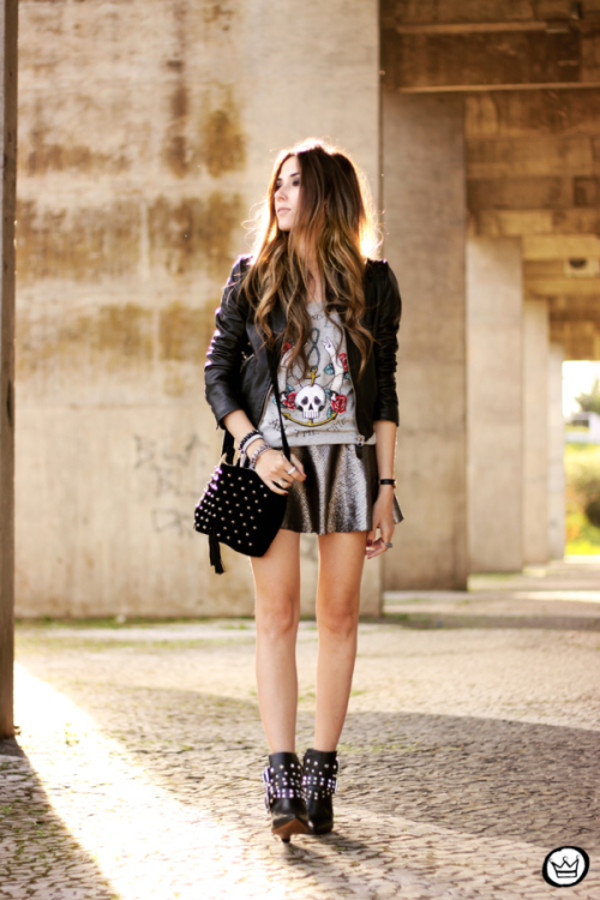 fashion coolture t-shirt jacket skirt bag shoes