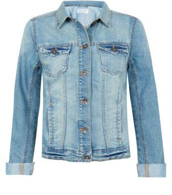 Light Blue Faded Denim Jacket