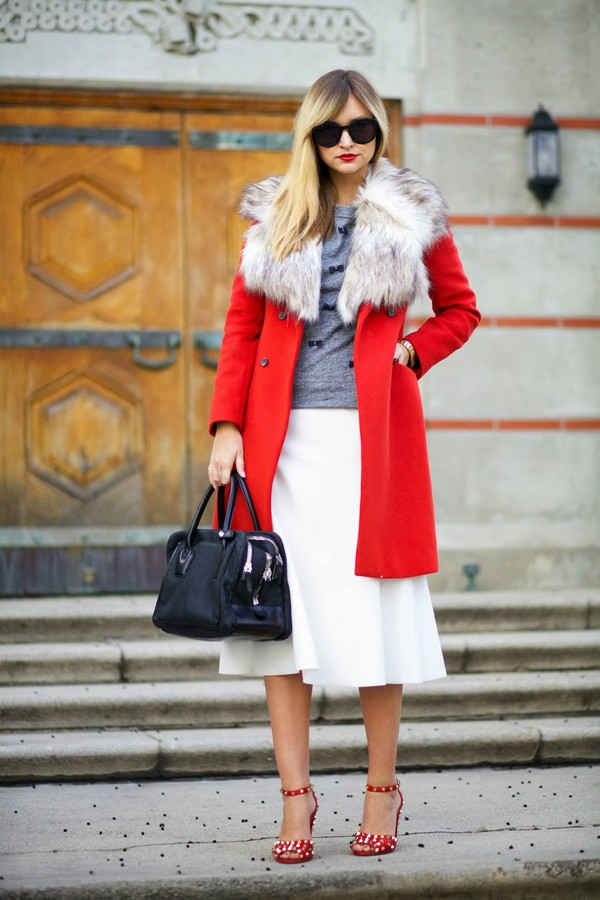 late afternoon coat sweater skirt shoes sunglasses jewels bag t-shirt