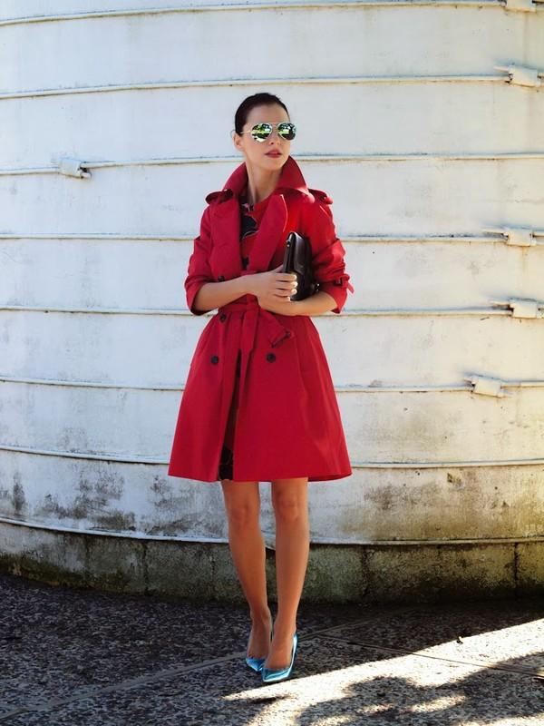 bittersweet colours coat dress shoes sunglasses bag