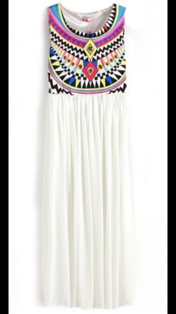 dress white long dress