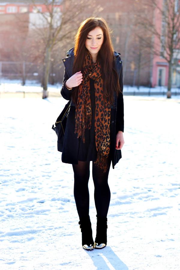 flirting with fashion coat dress t-shirt shoes bag scarf