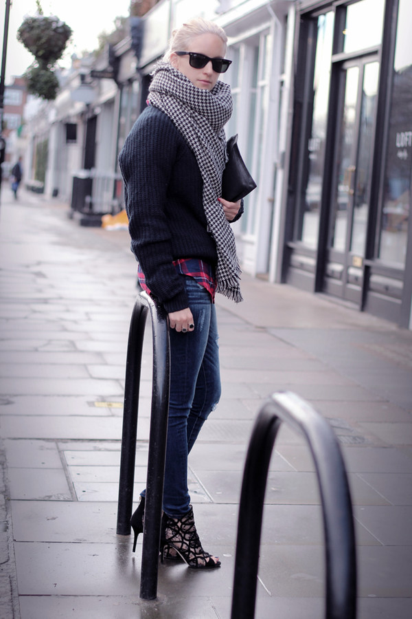the fashion guitar jeans shirt sweater scarf shoes bag jewels sunglasses