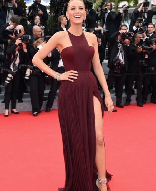dress blake lively dress burgundy dress blake lively