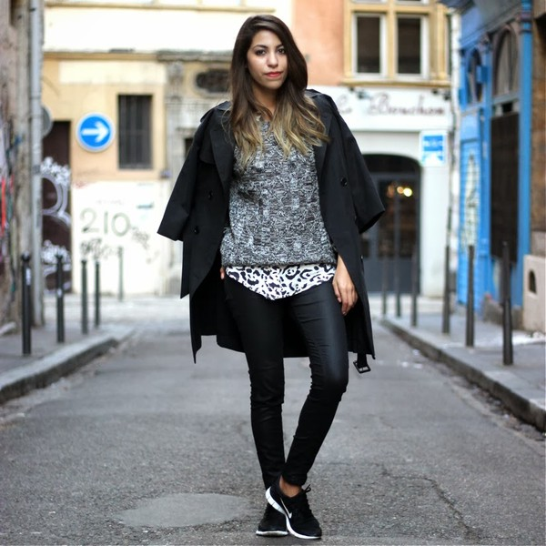 fadela mecheri coat sweater shirt shoes
