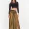 As you pleats sheer metallic maxi skirt gold - gojane.com