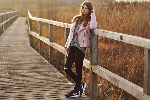 skinny liar coat scarf sweater pants shoes bag jewels