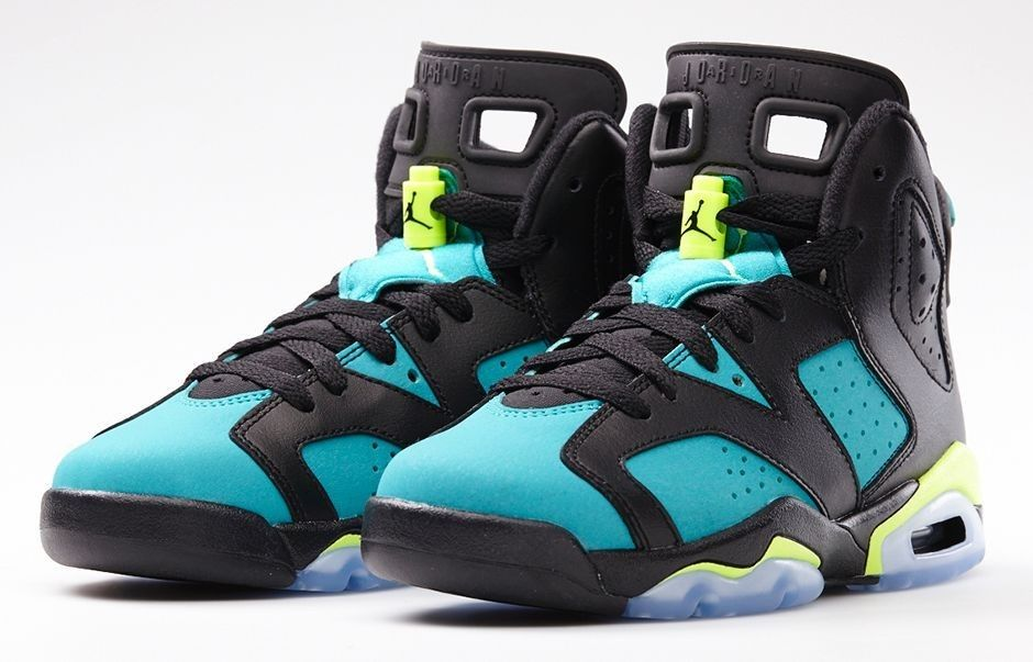 Nike Air Jordan 6 VI Retro Turbo Green Size 6Y 6 GS PS Kids Black Volt Ice Royal | eBay