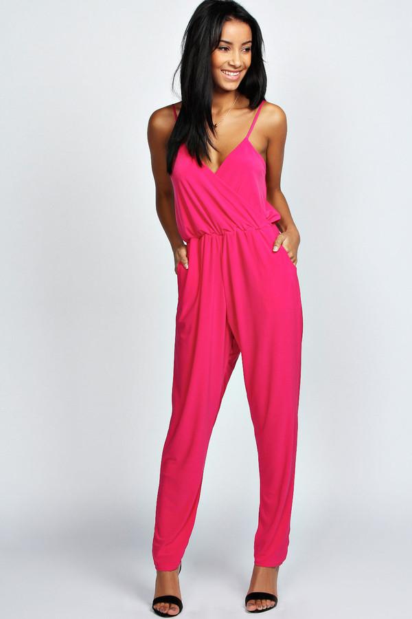 pants pink jumpsuit