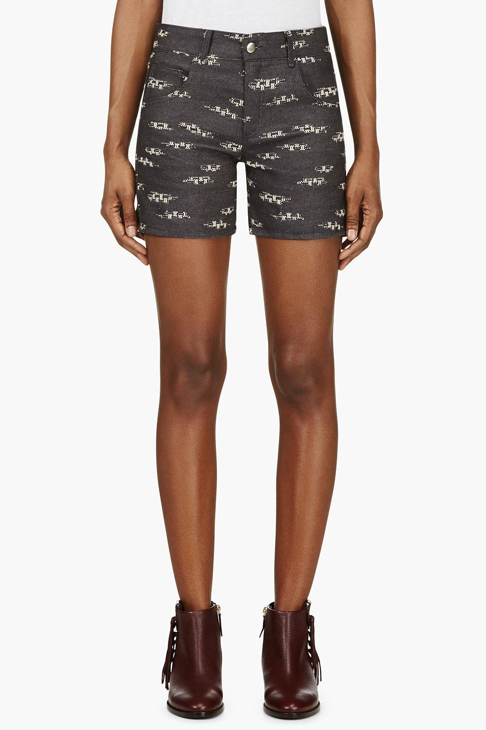 roseanna navy jacquard denim shorts