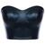 ROMWE | ROMWE Black Faux Leather Bandeau, The Latest Street Fashion