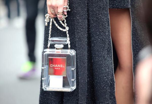 bag chanel purse clear